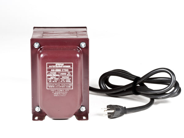 ACUPWR Tru-Watts™ 2000-Watt Step Up Transformer Converter - Use 220 Volts appliances in 110 Volts countries - AU-2000 - ACUPWR USA  - 1