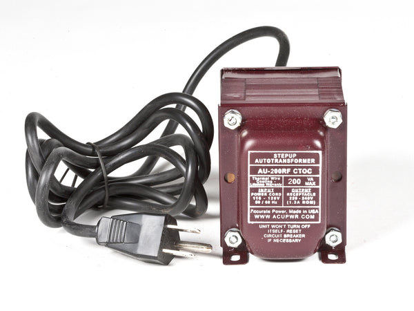 200 Tru-Watts™ Step Up Transformer Converter - Use 220 Volts appliances in 110 Volts countries - AU-200 - ACUPWR USA  - 1