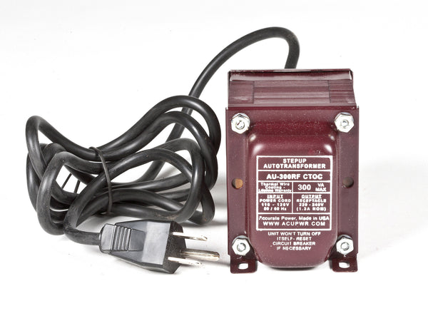 300 Tru-Watts™ Step Up Transformer Converter - Use 220 Volts appliances in 110 Volts countries - AU-300 - ACUPWR USA  - 1