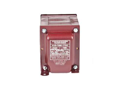 1500 Tru-Watts™ Step Up/Step Down Voltage Transformer with IEC C13 Input - Use 110-120-Volt appliances in 220-240-Volt countries and Vice-Versa – AUD-1500IEC