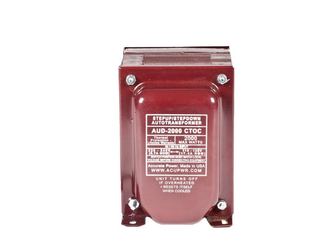 2000 Tru-Watts™ Step Up/Step Down Voltage Transformer with IEC C13 Input - Use 110-120-Volt appliances in 220-240-Volt countries and Vice-Versa – AUD-2000IEC