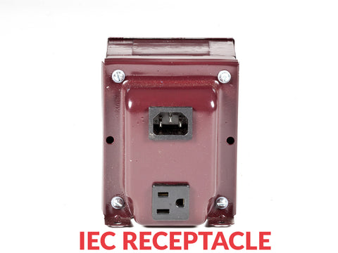 1000 Tru-Watts™ UL-approved Step Down Voltage Transformer with IEC C13 Input - Use 110-120-Volt appliances in 220-240-Volt countries – ADICH14-1000 CTOC IEC