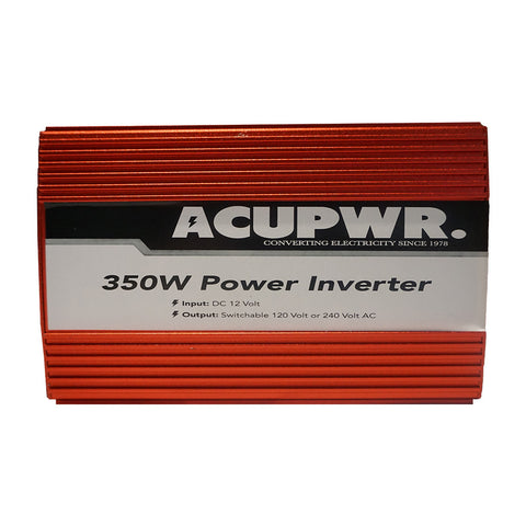 350-Watt Travel Car Power Inverter Converts 12-volts DC to 110 or 240-volts AC w/Universal Plug Port Ideal for Charging Laptops, Smart Phones, Tablets, and more - ACUPWR USA  - 2
