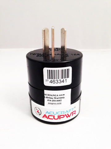 Type F (Schuko) to Type I Plug Adapter SCH3ANGA - ACUPWR USA  - 1