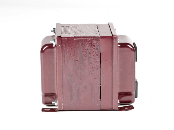 ACUPWR red 1000-Watt Step-Down Transformer (ADICH14-1000IEC) back view with IEC receptacle
