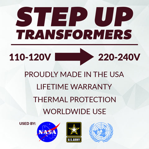 STEP UP - USE 220V APPLIANCES IN 110V COUNTRIES - ACUPWR USA