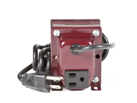 back view ACUPWR 250-watt step-up transformer for 220-volt appliances Type B plug