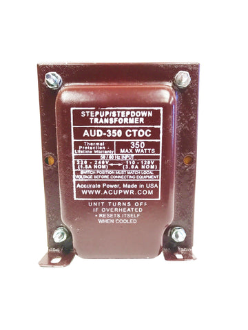 350 Watt Step Up/Step Down Transformer - Convert 110-120 voltages to 220-240 or vice-versa