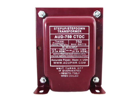 750 Tru-Watts™ Step Up/Step Down Voltage Transformer – AUD-750IEC