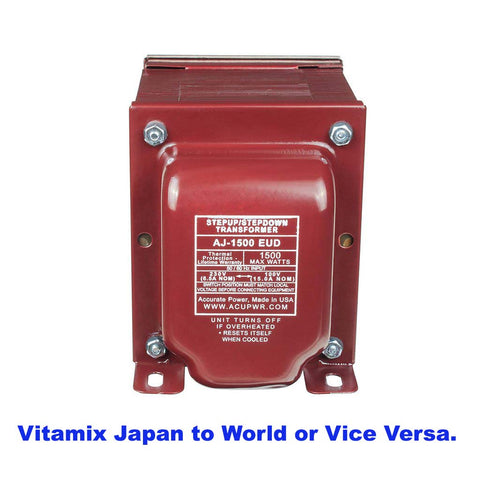 Japan to World and Vice Versa Tru-Watts™ 1500w Step Up/Step Down Voltage Transformer - Use 100-Volt Appliances in 220-240-Volt Countries, Vice-Versa – AJ-1500EUD
