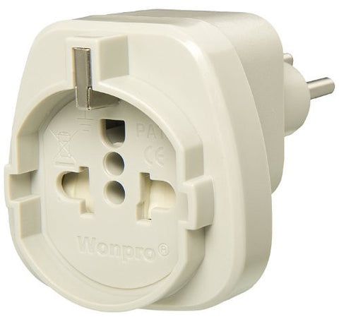 type f to type j schuko plug adapter ss3gr acupwr. Black Bedroom Furniture Sets. Home Design Ideas