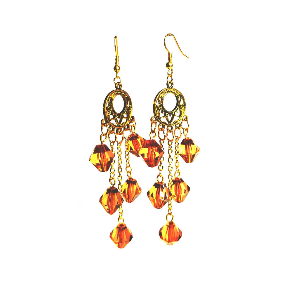 The Autumn Equinox inspired Chandelier Earrings