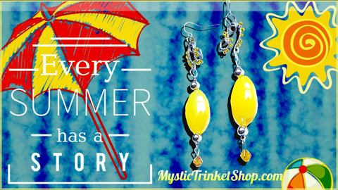 yellow summer earrings