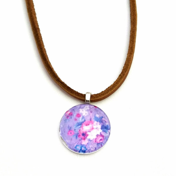 Floral Leather Necklace - Necklace - 4
