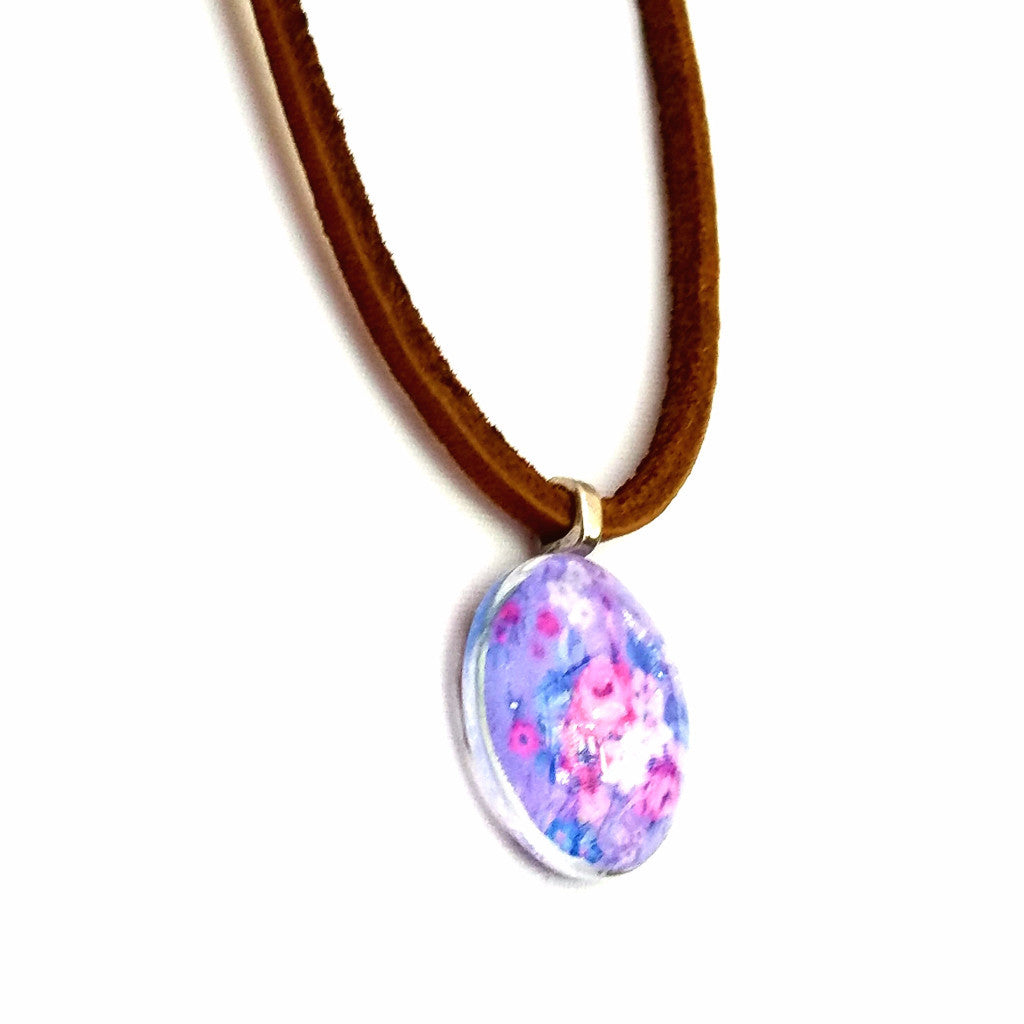 Floral Leather Necklace - Necklace - 2
