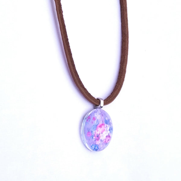Floral Leather Necklace - Necklace - 3