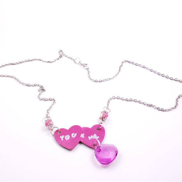 You and Me Hearts Necklace