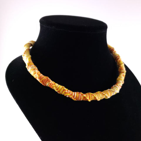 Orange Macrame Necklace