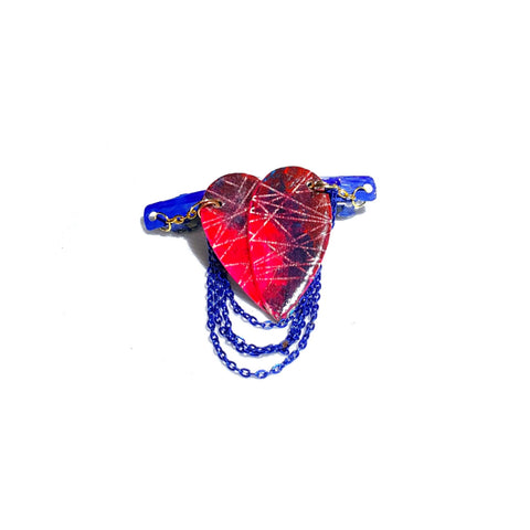 Destructed Heart Hair Barrette - Hair Accessories - 1