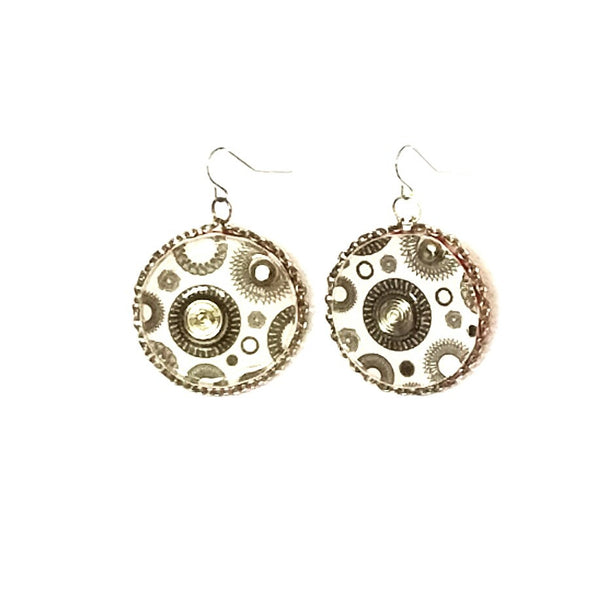 Circle Earrings with Polka Dots - Earrings - 3