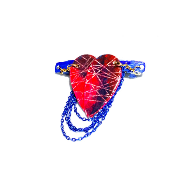 Destructed Heart Hair Barrette - Hair Accessories - 3