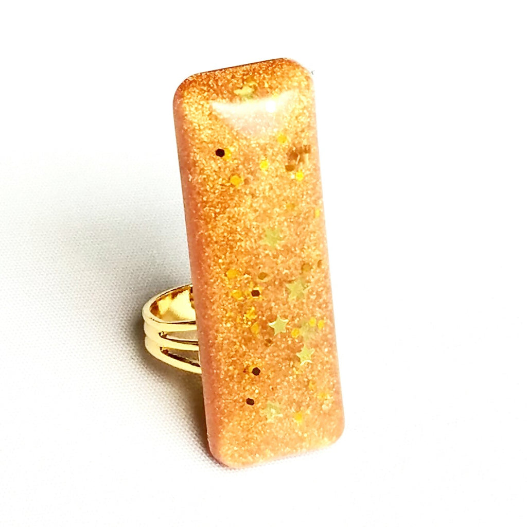 Star Gold Bar Ring - Rings - 3