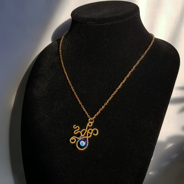 Evil Eye Monster Necklace - Necklace - 2