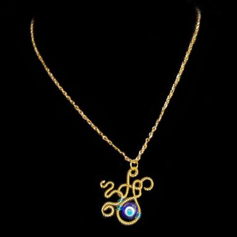 Evil Eye Monster Necklace - Necklace - 1