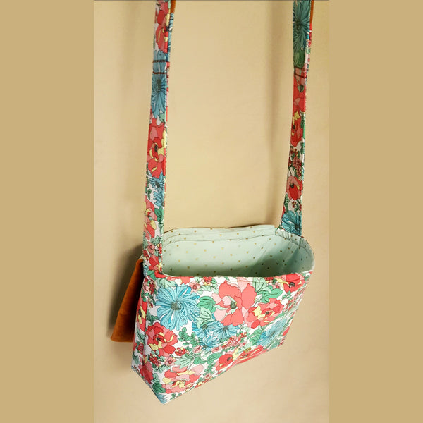 Tropical Floral and Velvet Cross Body Bag - Bag - 2