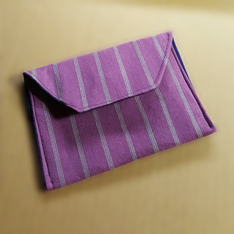 Pinstripe Purple Wallet