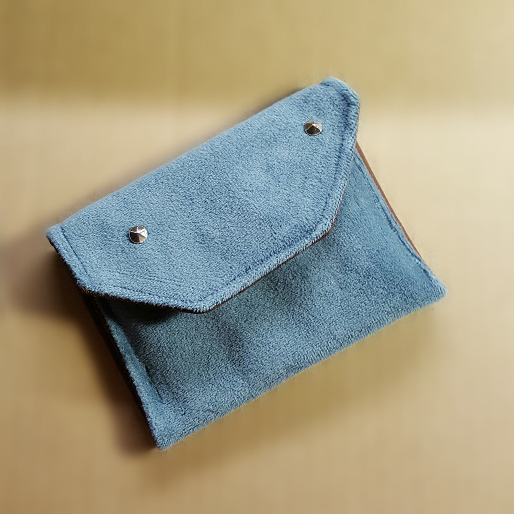 Blue Velvet Spike Wallet
