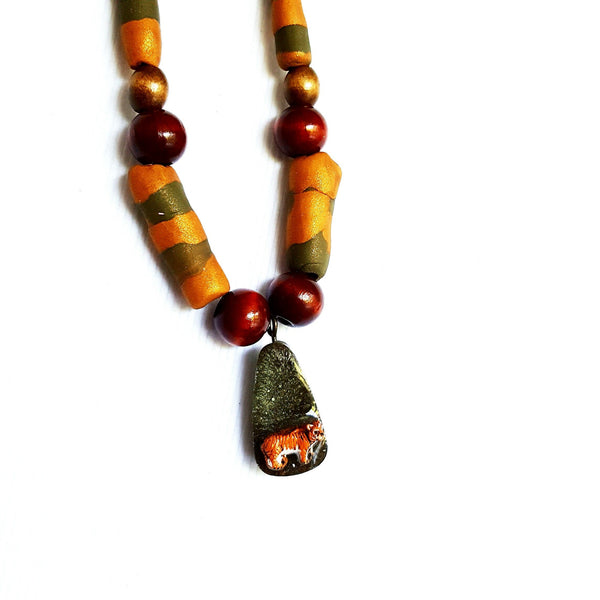 Beaded Tiger Necklace - necklace - 3
