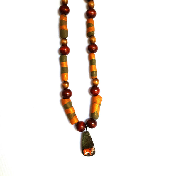 Beaded Tiger Necklace - necklace - 6
