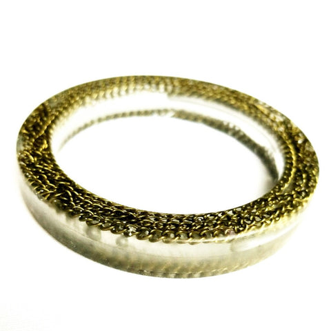 Clear Brass Bangle Bracelet - Bracelet - 1