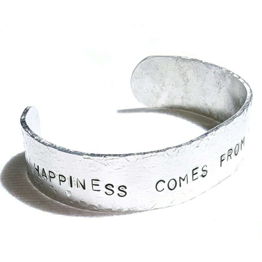 Happiness Stamped Bracelet - Bracelet - 1