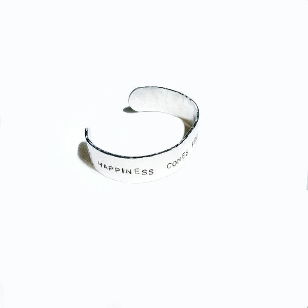 Happiness Stamped Bracelet - Bracelet - 4