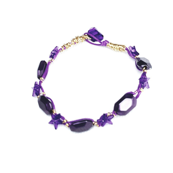 Purple and Gold Star Bracelet - Bracelet - 2