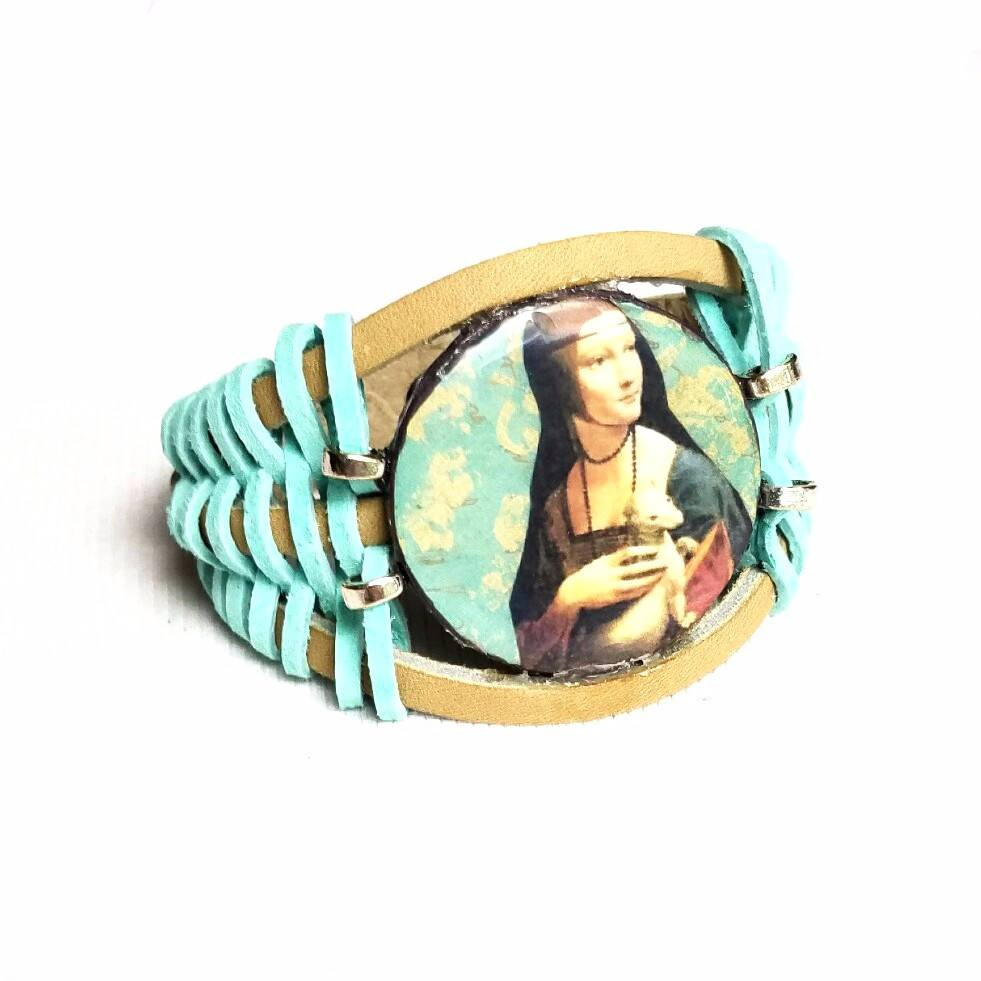 Bracelets - Woman And Weasel Leather Bracelet