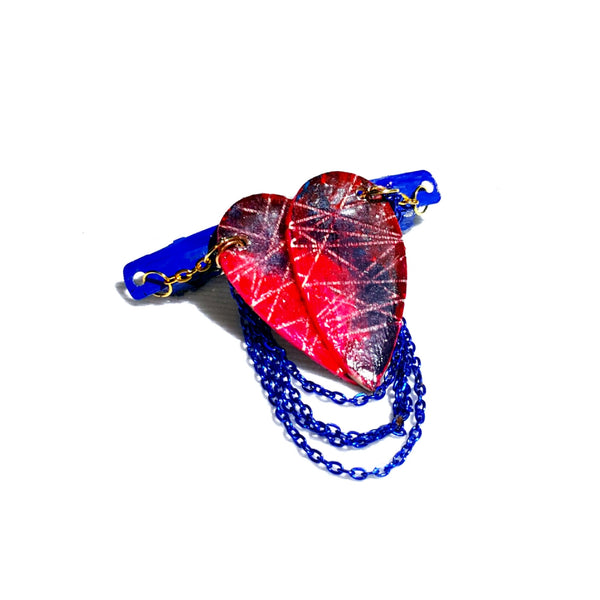 Destructed Heart Hair Barrette