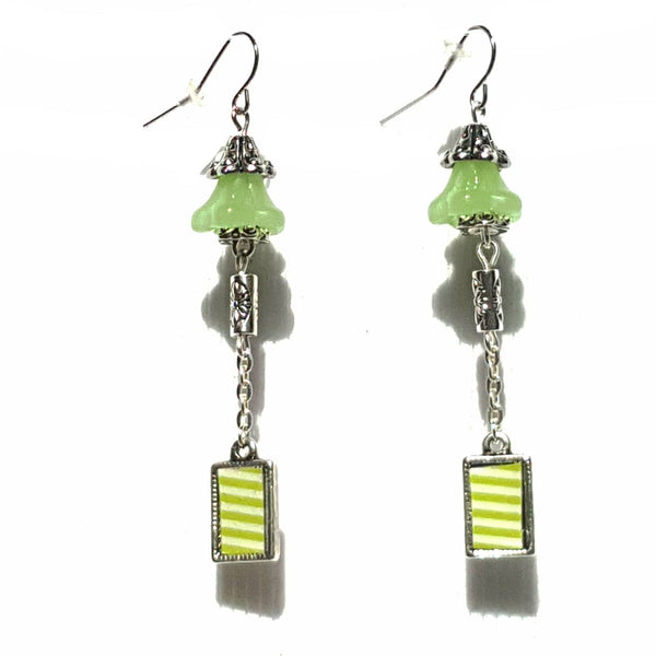 Bright Green Bell Earrings - Earrings - 1