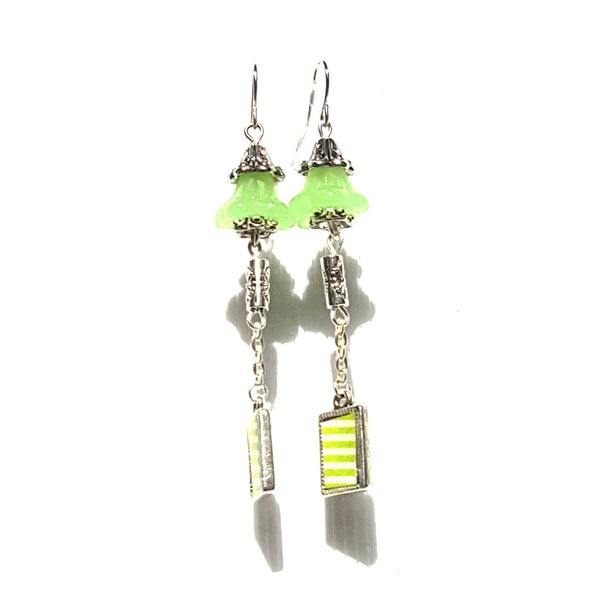 Bright Green Bell Earrings - Earrings - 2