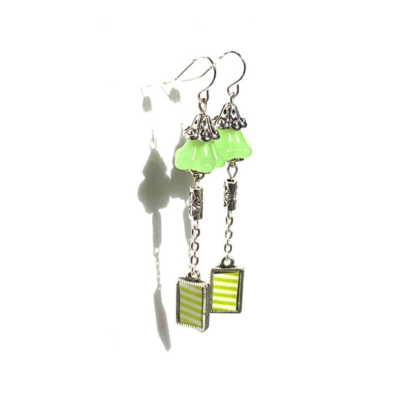 Bright Green Bell Earrings - Earrings - 3