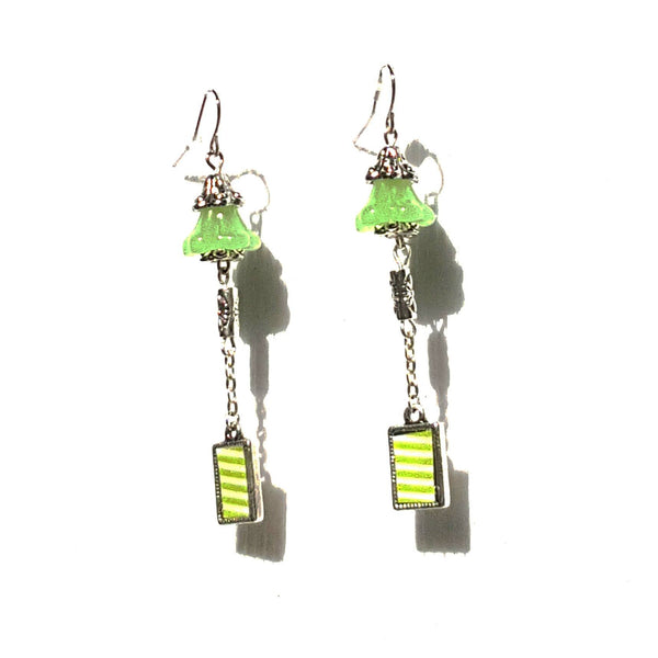 Bright Green Bell Earrings - Earrings - 4