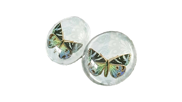 Butterfly Button Earrings | MysticTrinketShop.com - Earrings - 3