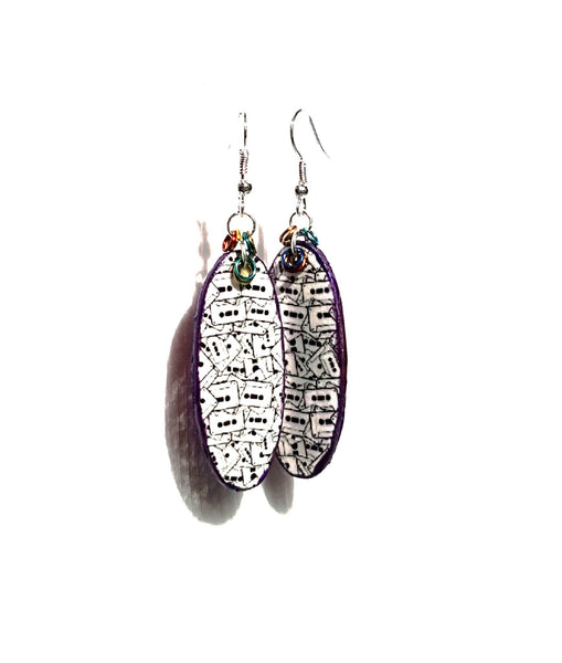 Cassette Tape Graphic Earrings - Earrings - 3