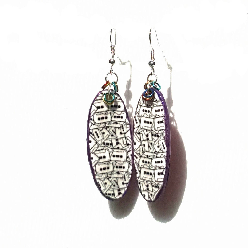 Cassette Tape Graphic Earrings - Earrings - 1