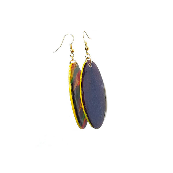 Fierce Oval Multicolored Dangle Earrings - Earrings - 2