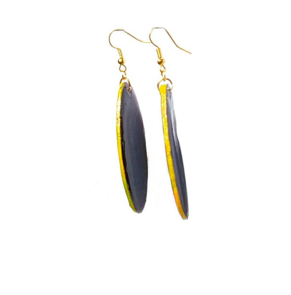 Fierce Oval Multicolored Dangle Earrings - Earrings - 4