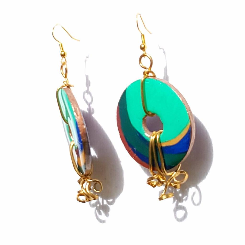 earrings multicolored chandelier goddess look product riviera