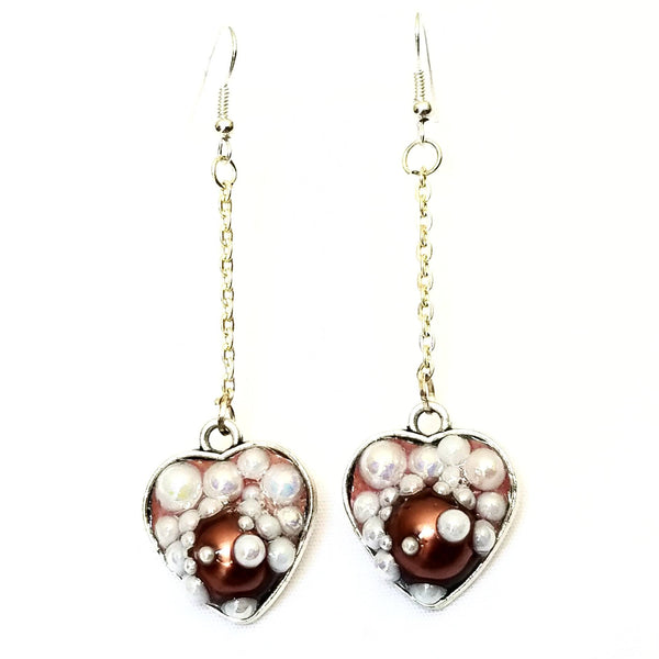 Heart Shaped Bubble Earrings to Support Phoenix House | MysticTrinketShop.com - Earrings - 1